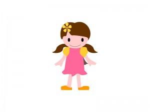 こども女の子イラスト素材03 イラスト無料かわいいテンプレート