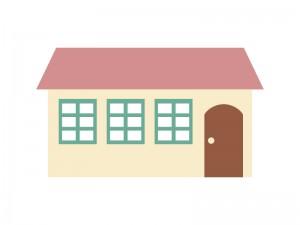 家マンションアパートイラスト素材01 イラスト無料かわいい