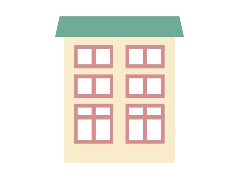家、マンション、アパート・イラスト02
