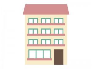 家マンションアパートイラスト素材05 イラスト無料かわいい