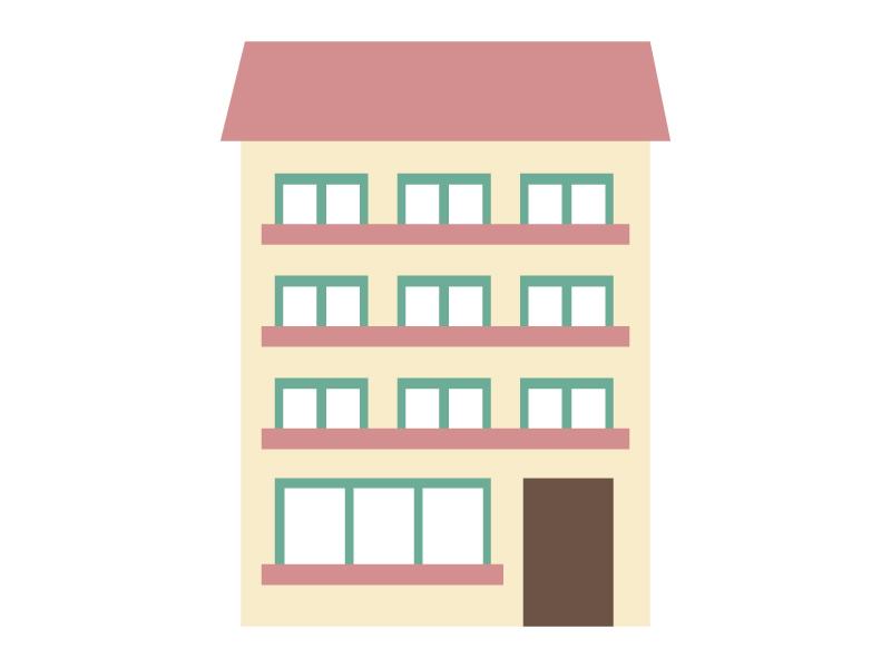 家、マンション、アパート・イラスト素材05