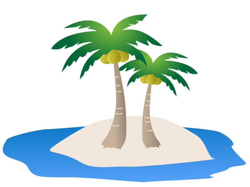 椰子の木(ヤシの木)イラスト01