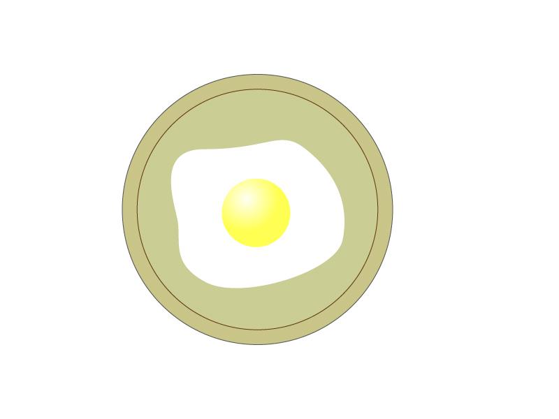 目玉焼き・お皿イラスト素材