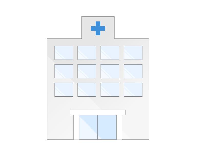 病院(診療所、小児科、眼科、歯科医院、産婦人科など)建物イラスト素材01