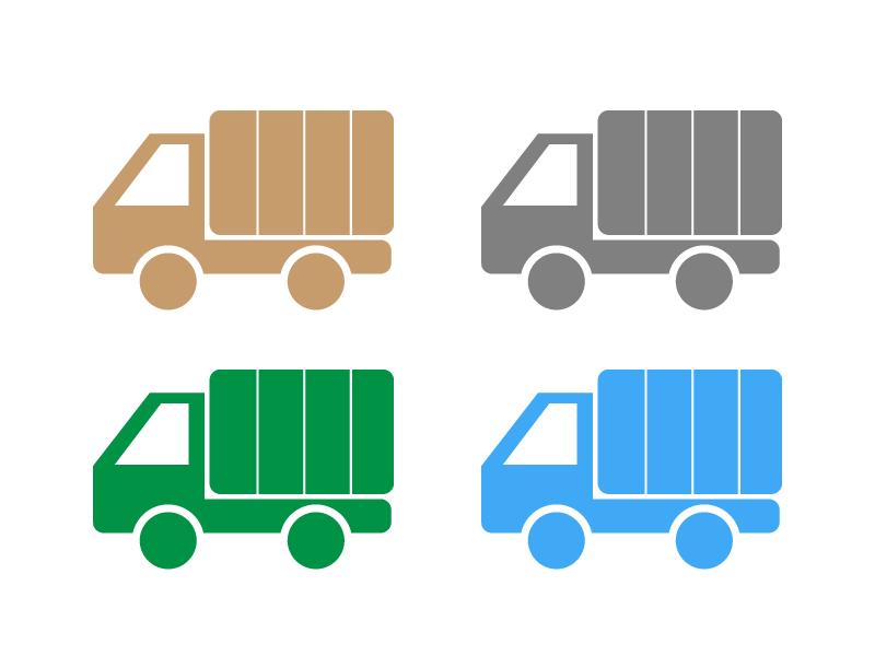 トラック・運送アイコンイラスト01