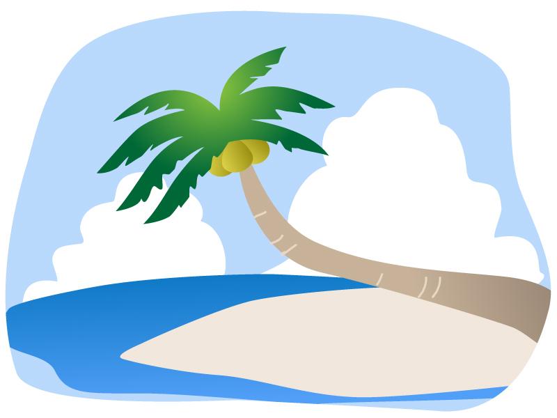 椰子の木(ヤシの木)イラスト02