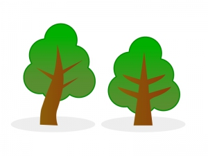 木葉っぱ草木イラスト素材01 イラスト無料かわいいテンプレート