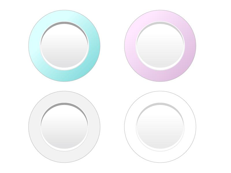 丸いお皿・食器イラスト02
