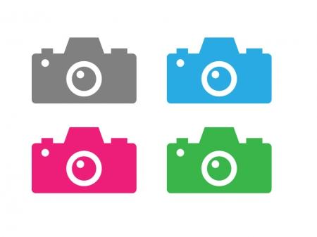 カメラデジカメアイコンイラスト素材03 イラスト無料かわいい