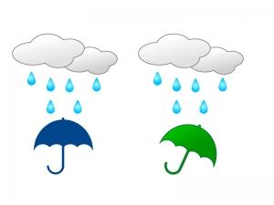 雨・傘・梅雨・雲イラスト素材01