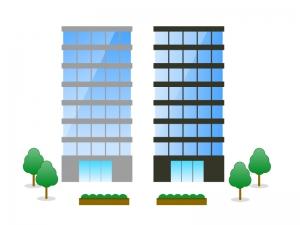 ビル・建物・会社・オフィスイラスト01