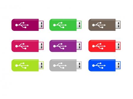 PC用USBメモリイラスト素材01