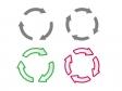 回転矢印・カーソル・リサイクルイラストアイコン02