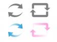 回転矢印・カーソル・リサイクルイラストアイコン03