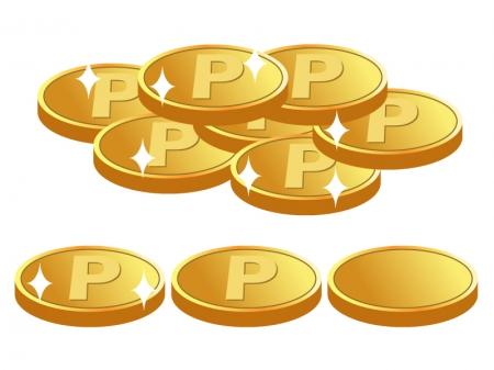 お金・コイン・金貨・ポイントのイラスト素材01