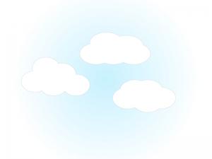 雲・クラウド・空・天気イラスト素材01 無料ダウンロード