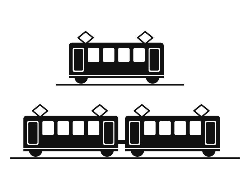 電車・鉄道イラストアイコン素材01 無料ダウンロード