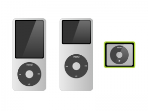 音楽(ミュージック)プレイヤー(iPod nano風)イラスト素材 無料ダウンロード