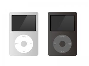 音楽(ミュージック)プレイヤー(iPod Classic風)イラスト素材 無料ダウンロード