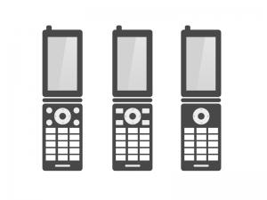 携帯(ガラケー)イラスト・アイコン素材01 無料ダウンロード