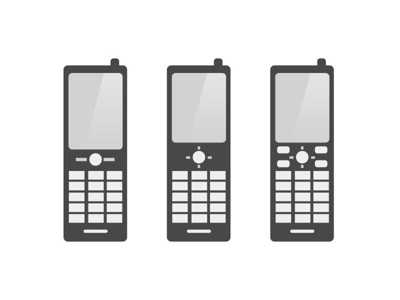 携帯(ガラケー)イラスト・アイコン素材02 無料ダウンロード