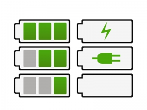 電池・充電バッテリーイラスト・アイコン素材02 無料ダウンロード
