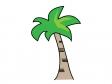椰子の木(ヤシの木)イラスト03 無料イラスト素材