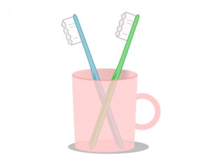 歯ブラシイラスト素材01 無料イラスト素材