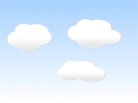 雲・クラウド・空・天気イラスト素材02 無料ダウンロード