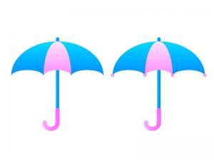 傘・梅雨イラスト素材01 無料ダウンロード