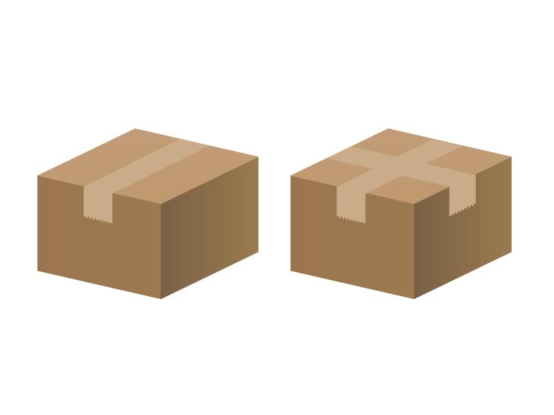 段ボール箱イラスト素材01 無料ダウンロード