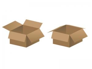 段ボール箱イラスト素材02 無料ダウンロード