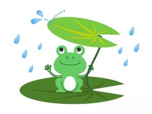 カエル(蛙)イラスト素材02 無料イラストダウンロード