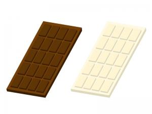 チョコレート・板チョコイラスト素材01 無料ダウンロード