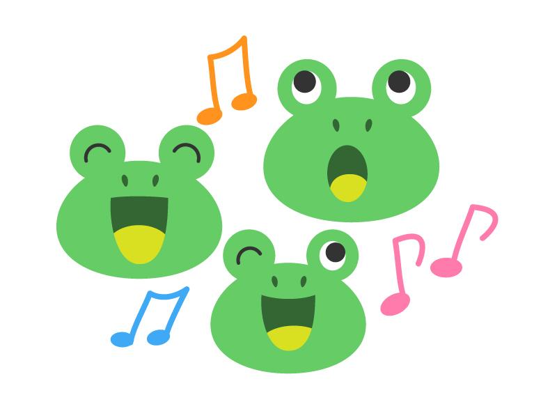 カエル(蛙)イラスト素材03 無料イラスト素材ダウンロード