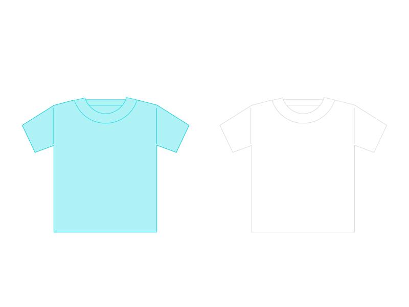 Tシャツイラスト素材01 無料ダウンロード