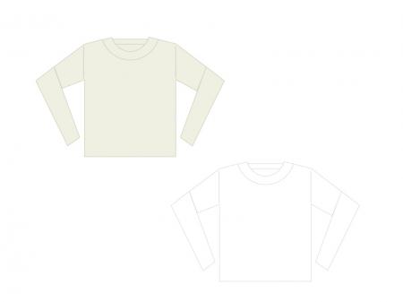 長袖シャツイラスト素材01 無料ダウンロード