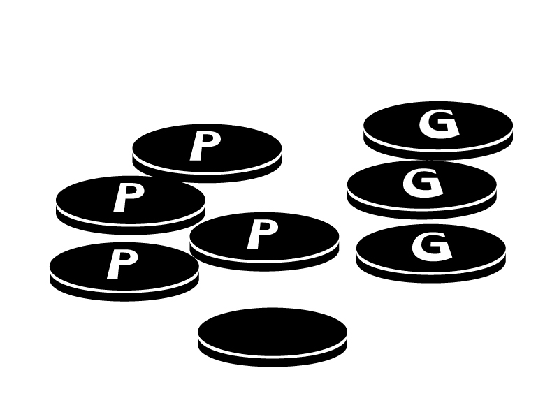 お金・コイン・金貨・ポイントのイラスト素材04 無料ダウンロード