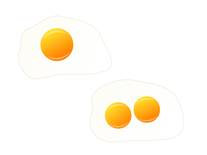 目玉焼き・卵イラスト素材 無料ダウンロード