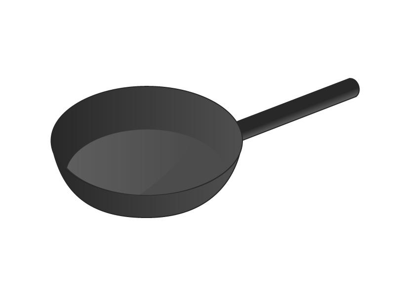 フライパン・キッチンイラスト素材01 無料ダウンロード