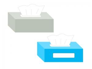 ボックスティッシュ(ティシュー)イラスト素材01 無料ダウンロード