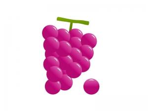 ぶどう(葡萄)・果物イラスト素材01 無料ダウンロード