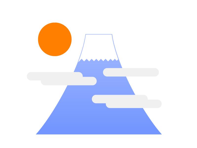 富士山・登山イラスト素材01 無料ダウンロード