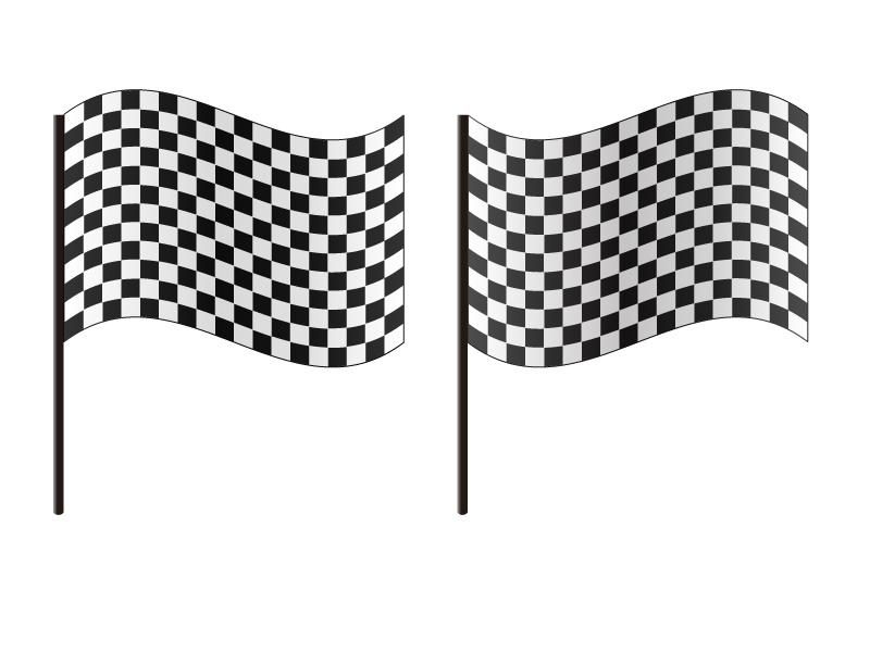 チェッカーフラッグ・旗・ゴールイラスト素材 無料ダウンロード