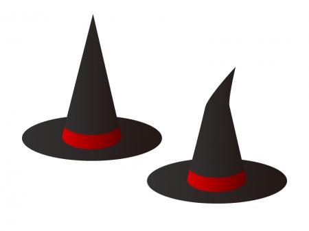 魔法使い・魔女とんがり帽子イラスト素材 無料ダウンロード