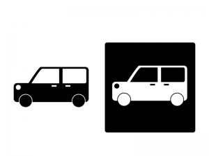 車・軽自動車シルエットイラスト素材 無料ダウンロード