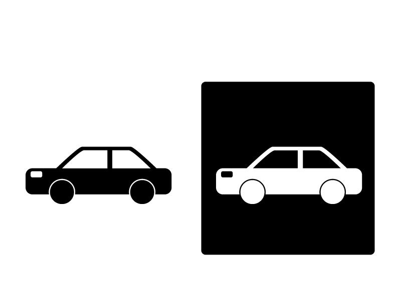 車・セダンシルエットイラスト素材 無料ダウンロード