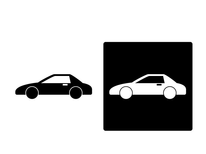 車・スポーツカーシルエットイラスト素材 無料ダウンロード