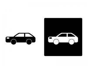 車・ステーションワゴンシルエットイラスト素材 無料ダウンロード