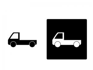 車・軽トラックシルエットイラスト素材 無料ダウンロード